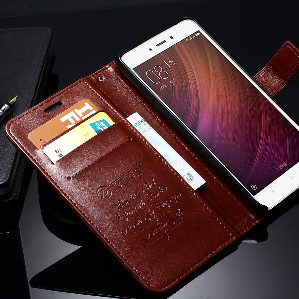 new styles 8fdc5 6231b Xiaomi Redmi Note 4 Case Redmi Note 4X Cover Flip Stand Leather Wallet Case  For Xiaomi Redmi Note 4 Prime Phone Bag Cover TOMKAS - YOLO