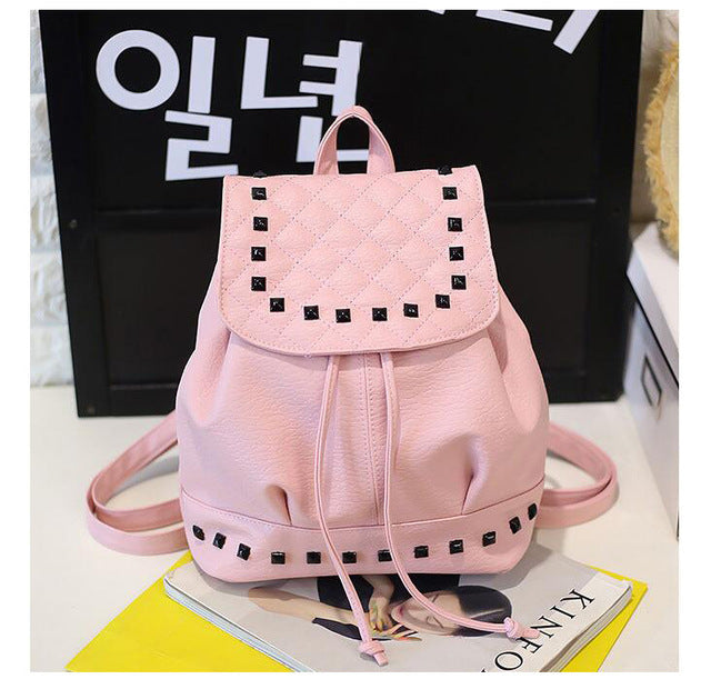 women backpack leather shoulder bag school bag korean female mini backpacks teenage girl mochila escolar women backpack LB273