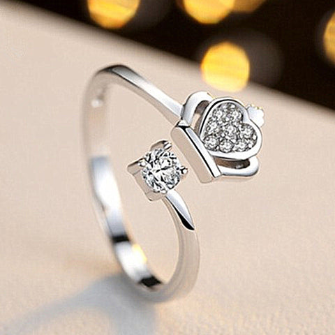 Women Open Ring Silver Plated Finger Ring Jewelry Gift