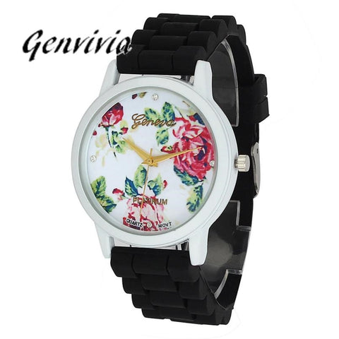 2017 New womens watches top brand GE Women watch women Silicone Analog Quartz Wrist Watch ladies rubber watches