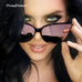 Rita Over Sized Reflective Cat Eye Sunglasses