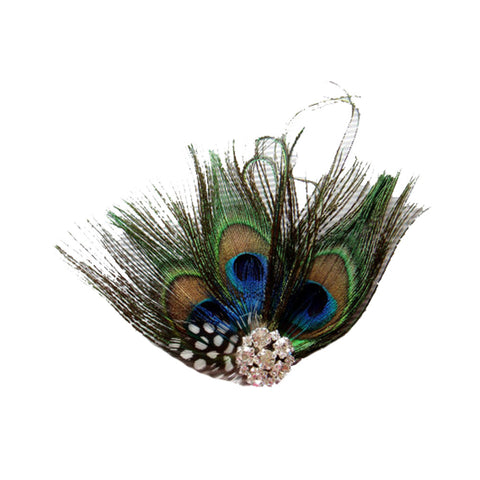 Women's Peacock Bridal Headband Feather Fascinator Headpiece Hair Accessories