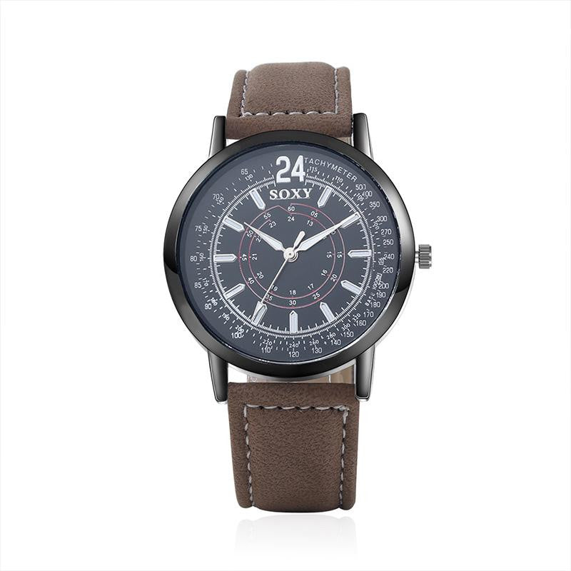 Leather Band Relojes Men Watch