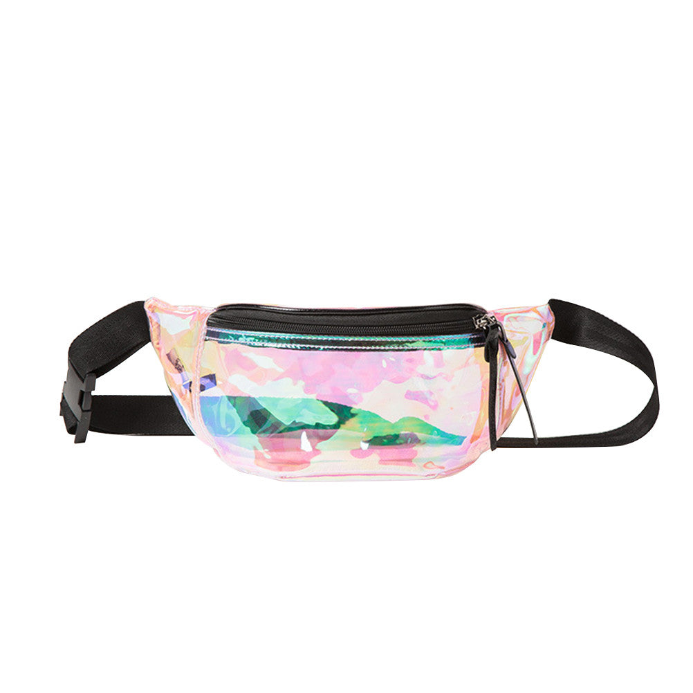 Women's Holographic Cute Stylish Waterproof Waist Fanny Pack Waist Bag Chest Bag Shoulder Bag