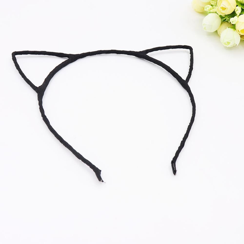 Fashion Women Cute Cat Kitty Kitten Ears Metal Headband Hair Band Cosplay Party