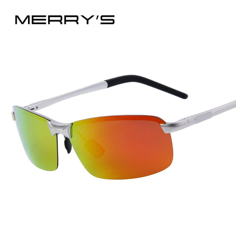 MERRY'S Fashion Men Aluminum Polarized Summer Sunglasses Ultralight Frame Mirror Lens Sunglasses Oculos de sol UV400