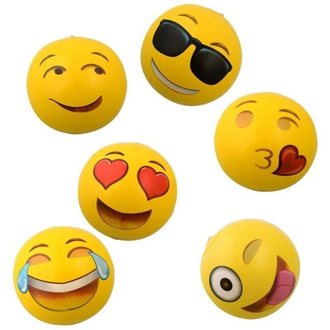 Emoji Face Beach Ball Inflatable Round for Water Play Pool  Kids