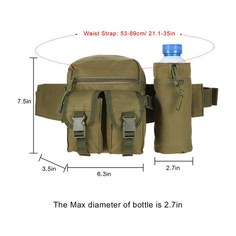 Tactical Molle Bag Waist Bag Fanny Pack Hiking Fishing Hunting Waist Bags Tactical Sports Hip Belt Bag Outdoor Travel Military Equipment Gear