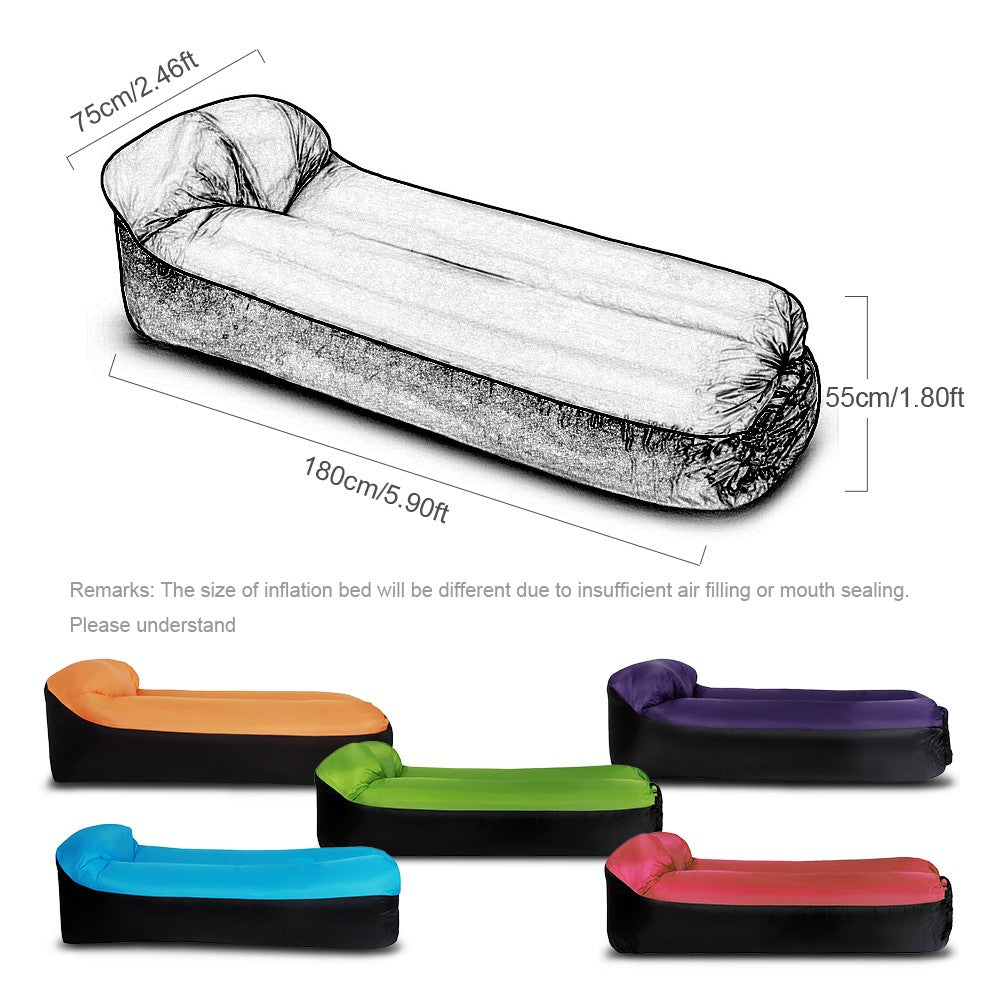Inflatable Lounger Portable Air Beds Sleeping Sofa Couch for Travelling Camping Beach Backyard
