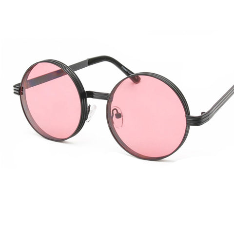 Round sunglasses metal vintage steampunk brand designer men glasses uv400 xx322