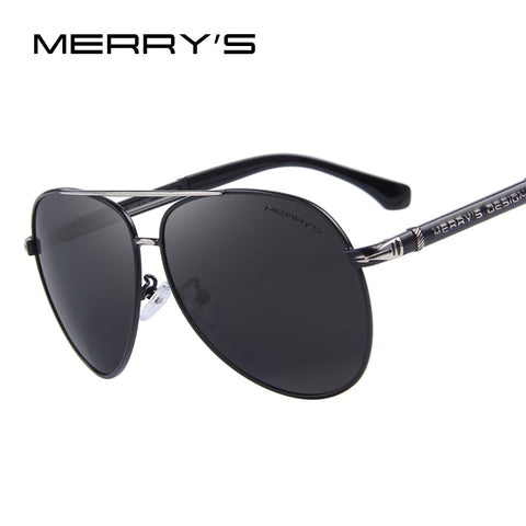 MERRYS Design Men Classic Brand Sunglasses HD Polarized Aluminum Sun glasses Luxury Shades UV400 S8728