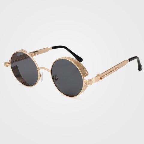 Steampunk Round Sunglasses Men Coating Mirrored Retro Vintage Sun Glasses Women Unisex Oculos xx418