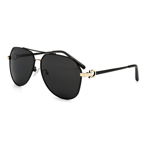 Brand Designer Men Pilot Polarized Sunglasses Metal Frame Personality Leg Sun Glasses for Women with Case ms702