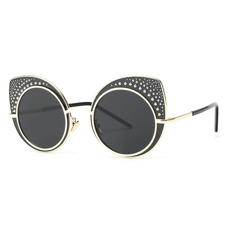 Fashion Cat Eye Sunglasses Women Retro Steampunk Female Sunglasses oculos de sol feminino UV400 xx142