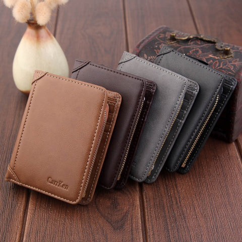 Wallet Short Men Wallets Purse Card Holder Wallet Fashion Zipper Wallet Coin Bag