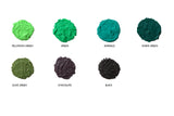 SugarTwist 2 earrings - CHOOSE GREEN or BLACK