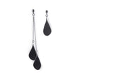 Tinkle Chain earrings, black