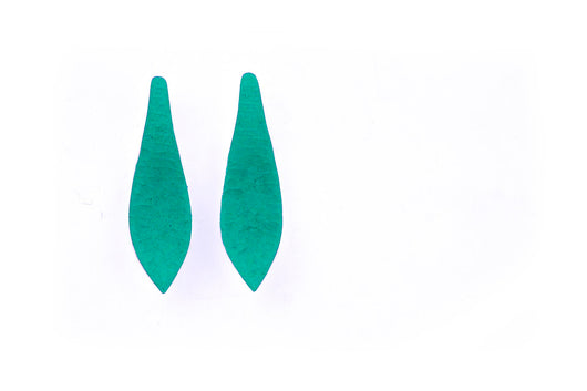 Stiletto earrings - CHOOSE GREEN or BLACK