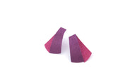 Koi Shūsui earrings- purple and mild fuchsia
