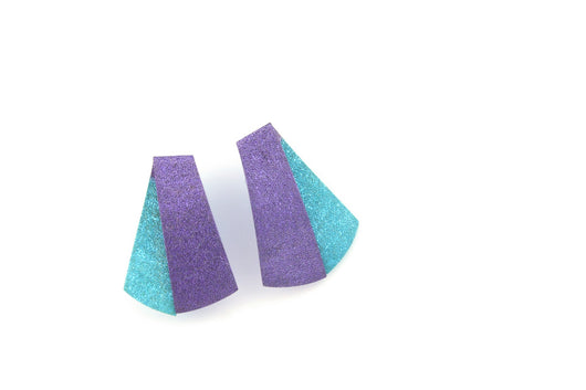 Koi Shūsui earrings- light turquoise and violet