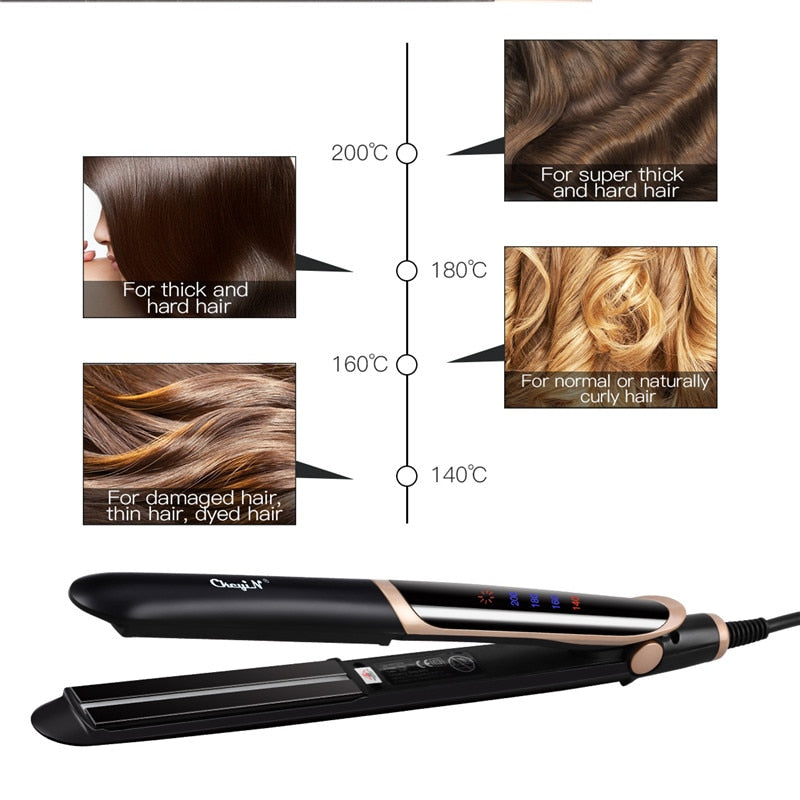 A+ Professional Corrugation LED Display Hair Straightener