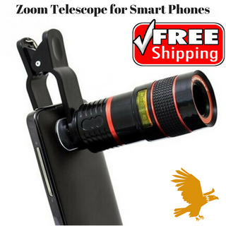 Optical Zoom Telescope for Smart Phones