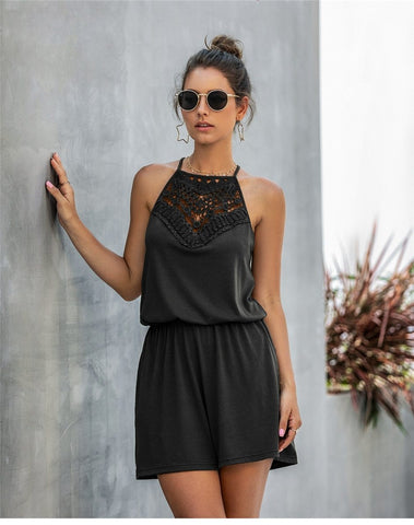 Bohemian Casual Cotton Romper
