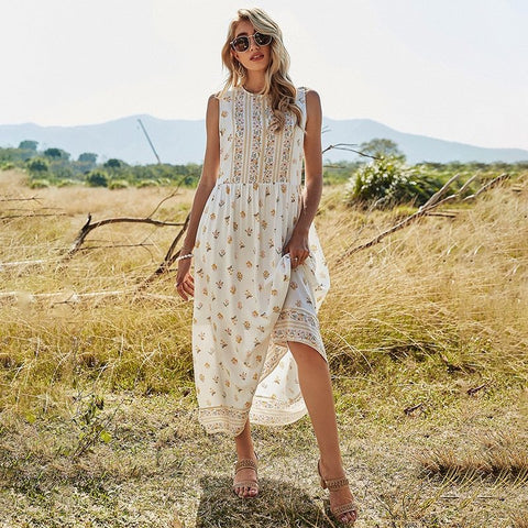 Olivia White Sweet Sling Loose Dress
