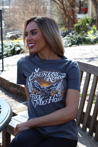 Country Roads Take Me Home Cotton T-Shirt