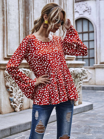 Sweat Polka Dot Top