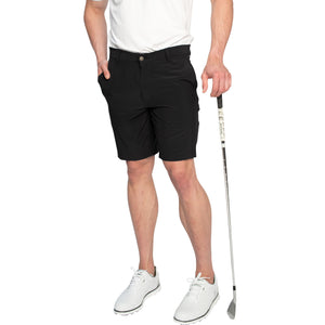 black golf shorts modern fit