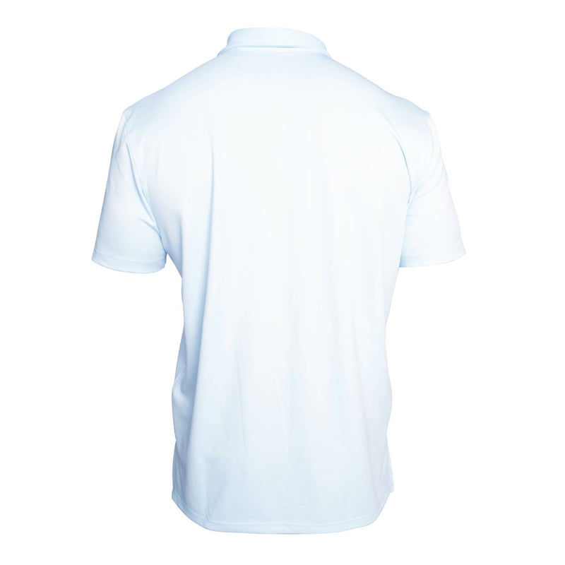 blue golf pocket polo