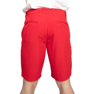 red modern fit golf shorts