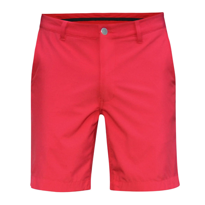red golf shorts