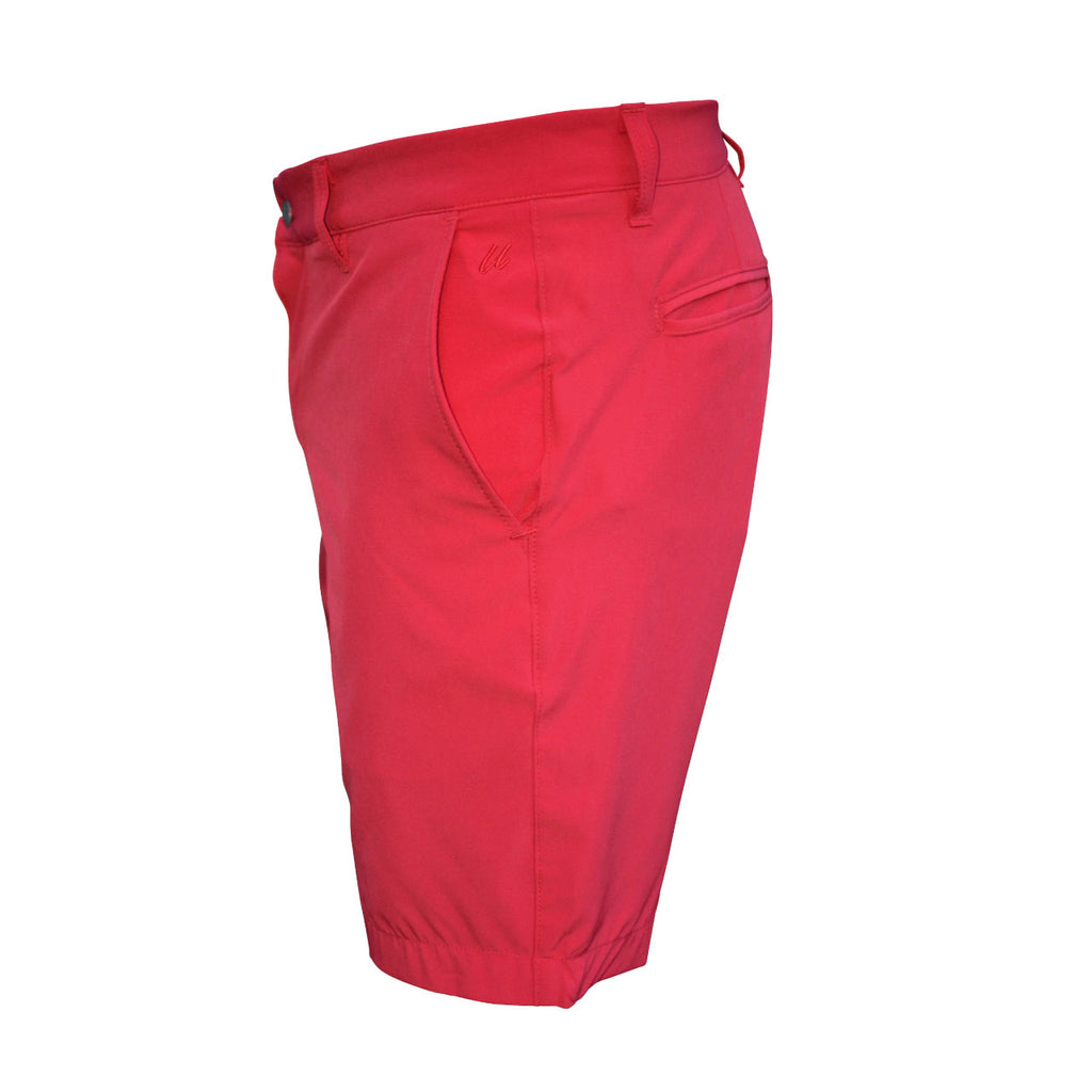 red men's golf shorts