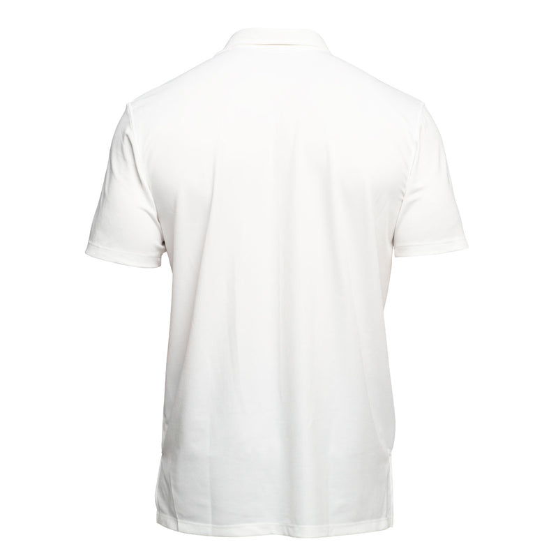 white pocket golf polo