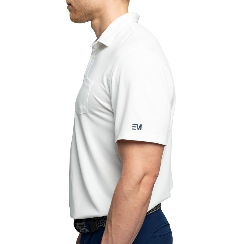 white golf polo