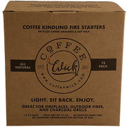 Coffe Wick Fire Starters light fireplaces, fire pits and charcoal grills