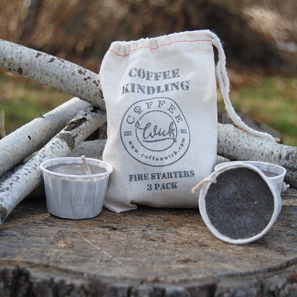 Coffee Kindling Fire Starter 3 Pack