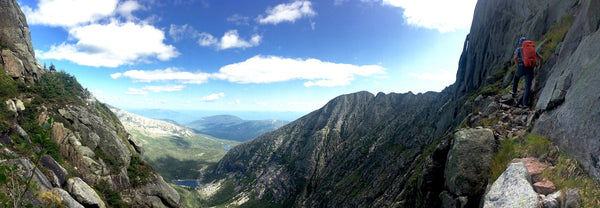Huppy on Belay: Mt Katahdin via the Armadillo