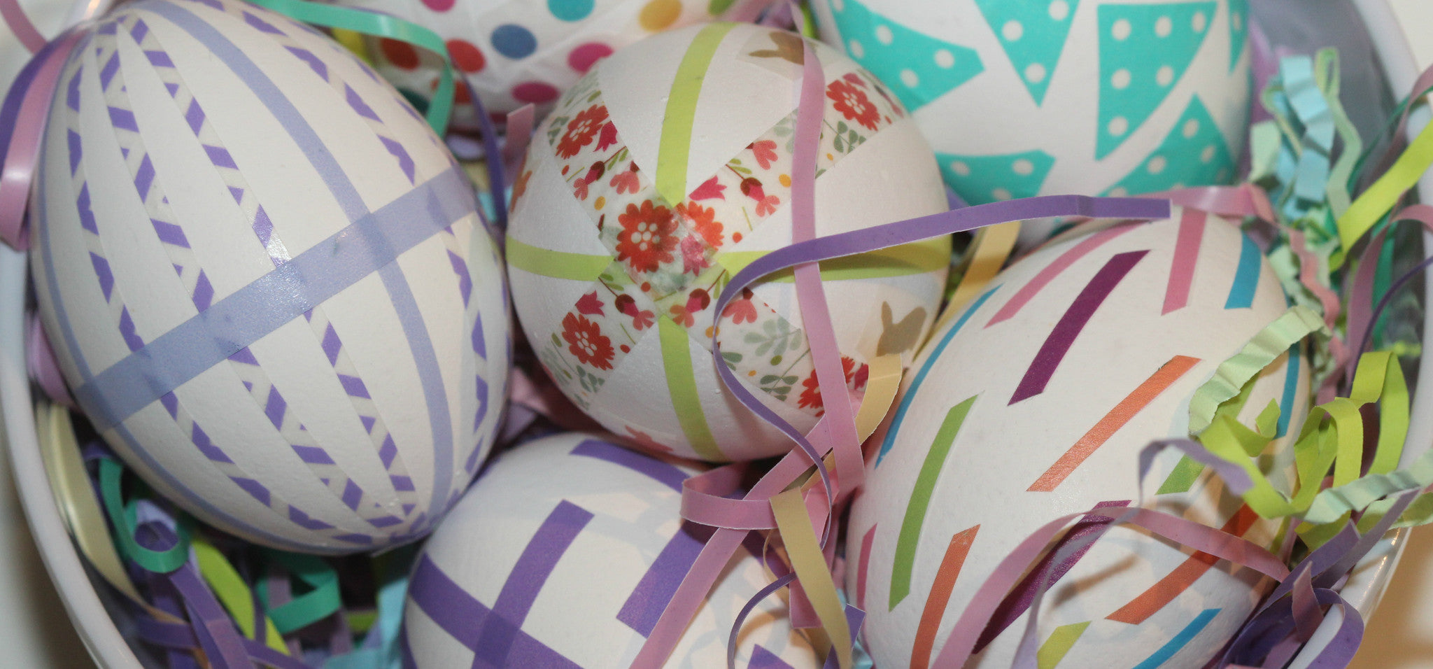 Wonderful Washi Easter Eggs