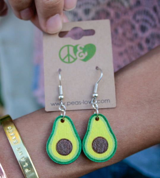 Dangling Avocado Earrings