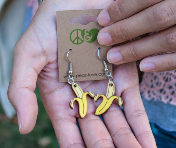Dangling Banana Earrings