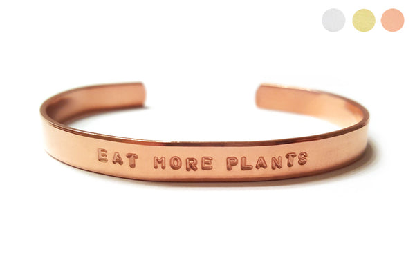 Eat More Plants Bracelet
