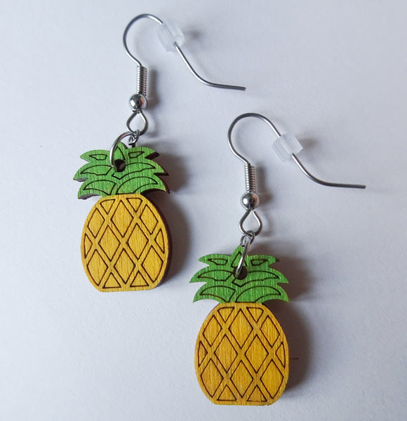 Dangling Pineapple Earrings