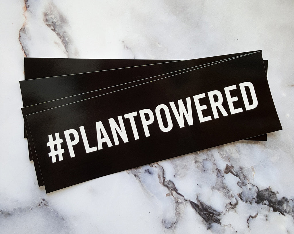 #PLANTPOWERED Bumper Sticker