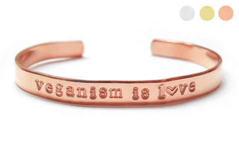 Veganism Is Love Bracelet