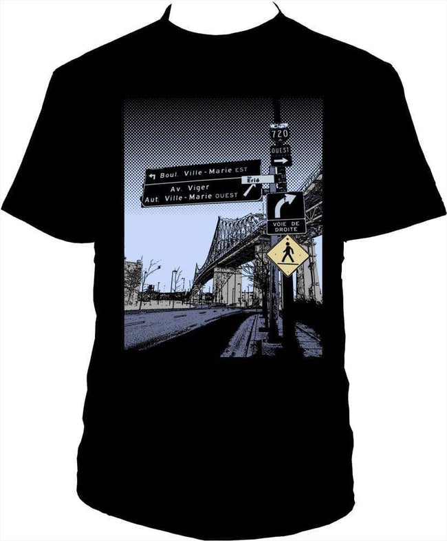 Jacques Cartier Bridge T-Shirt Black