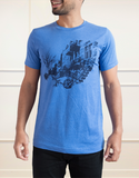 Mile End T-Shirt Homme Bleu | Mile end T-Shirt Men Blue