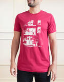Triplex T-Shirt Homme Rouge  | Men't Triplex T-Shirt Red